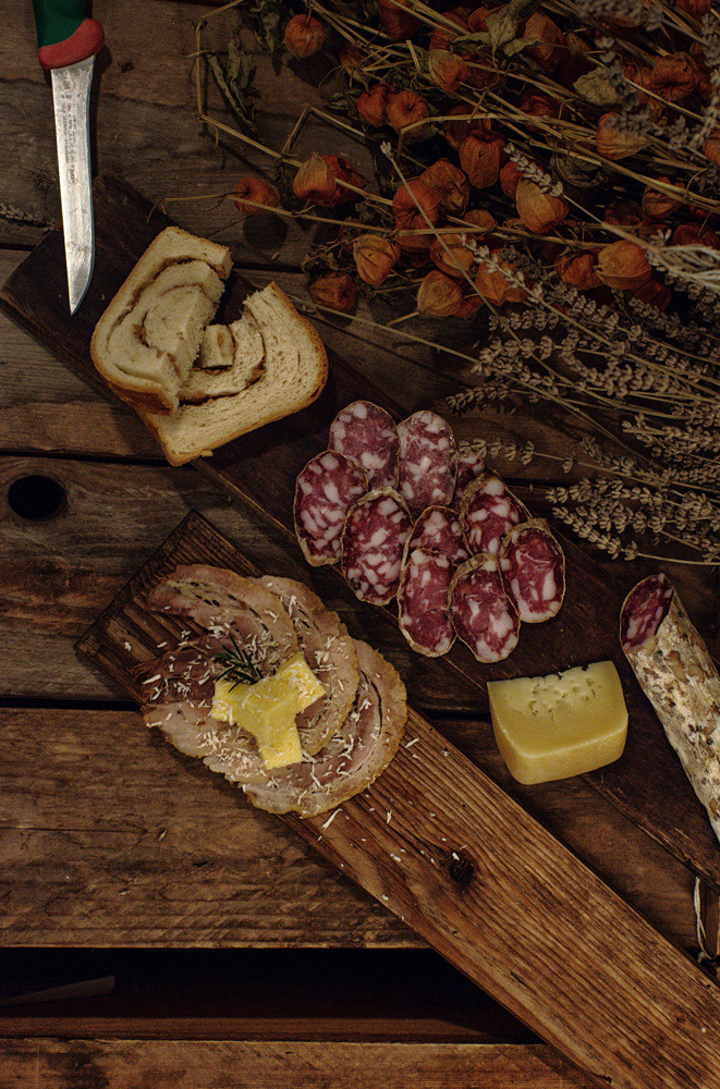 Wooden board delicacies